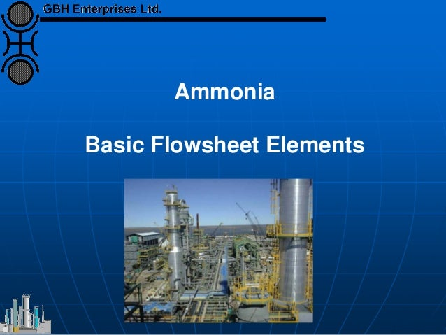 Ammonia Basic Flowsheet Elements
