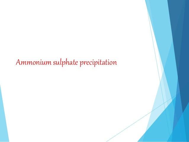 Ammonium sulphate precipitation