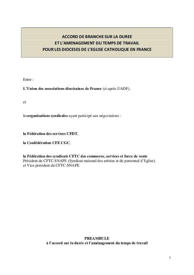 Idcc 1818 Accord Amenagement Temps De Travail