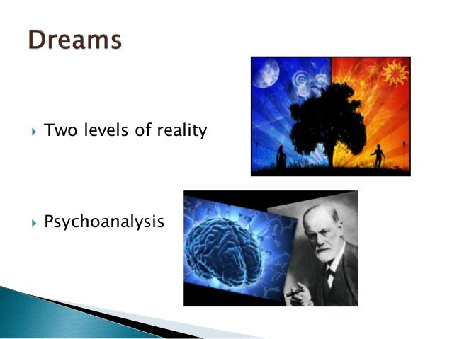  The level of reality  The level of dreams