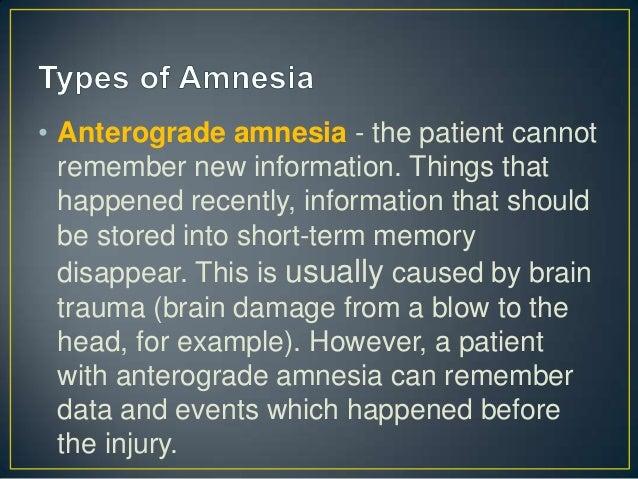 retrograde and anterograde amnesia essay Differentiate between the concepts of retrograde and anterograde amnesia differentiate between the concepts of retrograde and anterograde amnesia review gu.