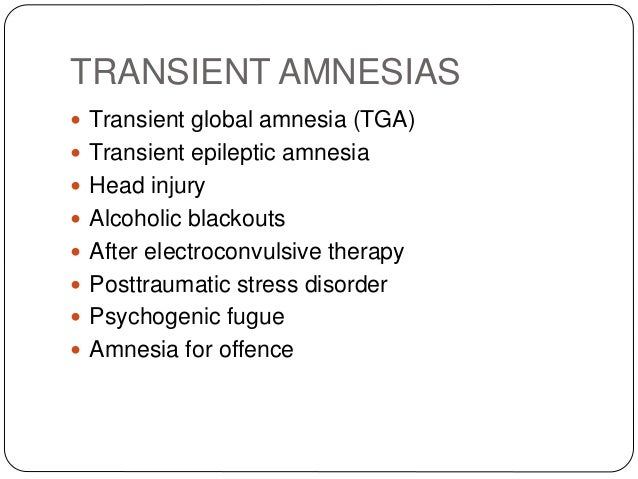 Amnestic Disorder Essay - 1092 Words