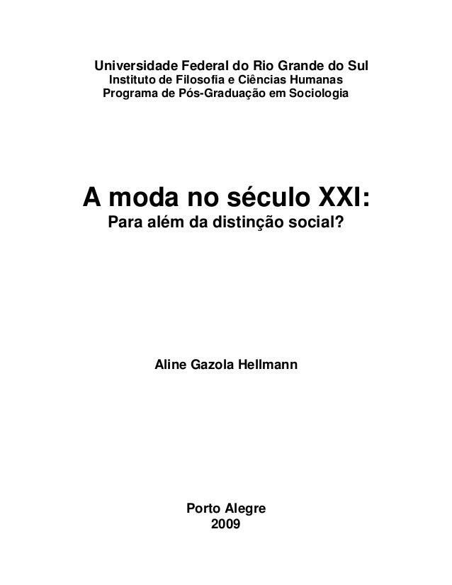 Universidade Federal do Rio Grande do Sul Instituto de Filosofia e Ciências Humanas Programa de Pós-Graduação em Sociologi...