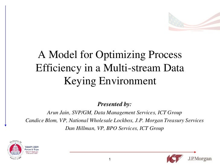 A Model for Optimizing Process    Efficiency in a Multi-stream Data           Keying Environment                          ...