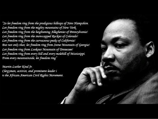 Martin luther king jr research paper thesis