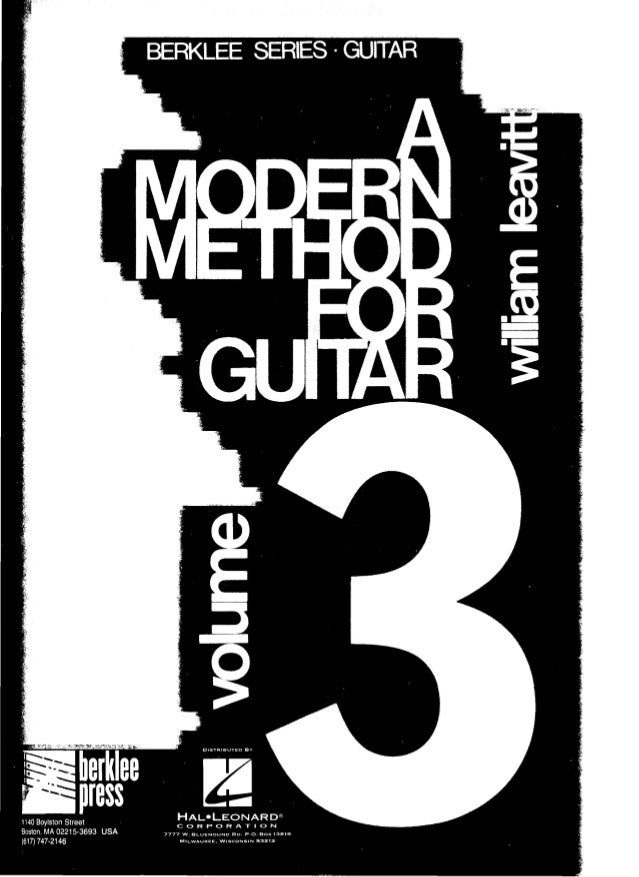 This book is a continuation of Volumes I and II, Modern Method for Guitar. Most of the terms and techniques are directly e...