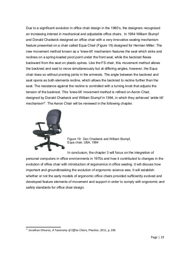 A Modern Office Chair Dissertation