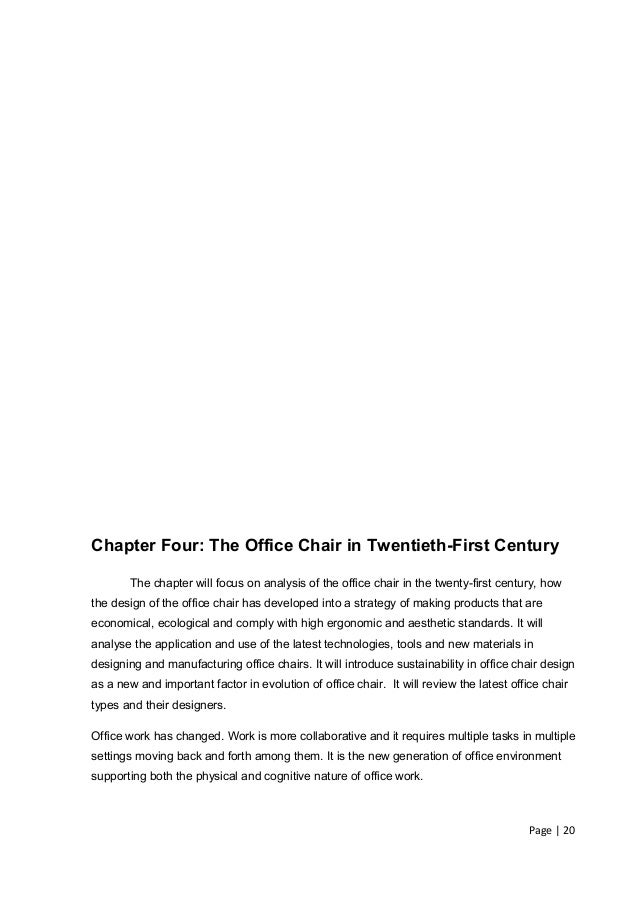 Chapter Four The Office Chair
