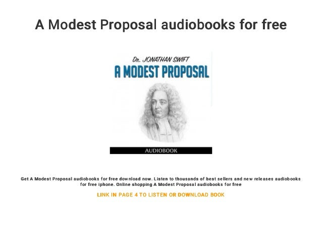 A Modest Proposal Audiobooks For Free