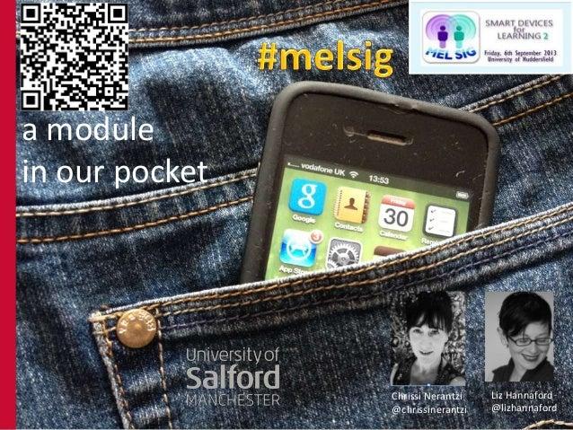 a module in our pocket Chrissi Nerantzi @chrissinerantzi Liz Hannaford @lizhannaford