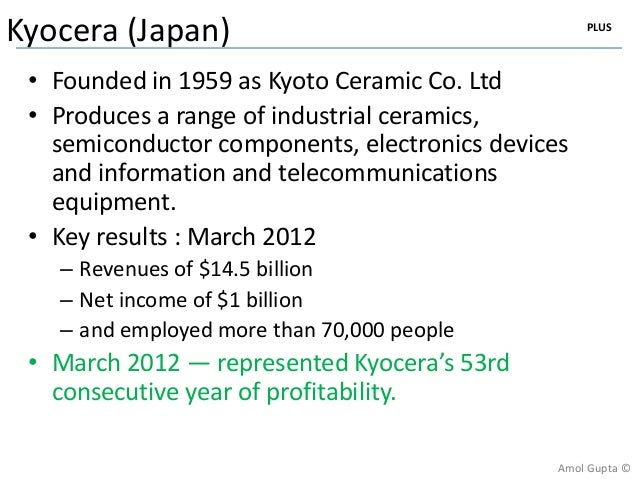 Kyocera corporation the amoeba management system