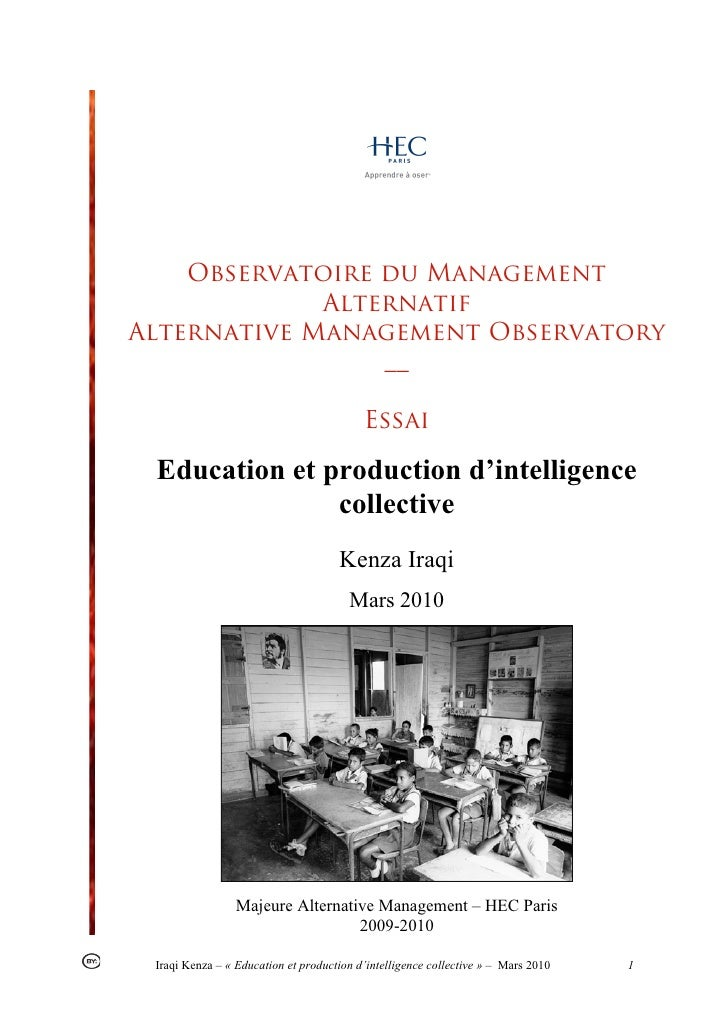 Observatoire du Management             AlternatifAlternative Management Observatory                 __                    ...