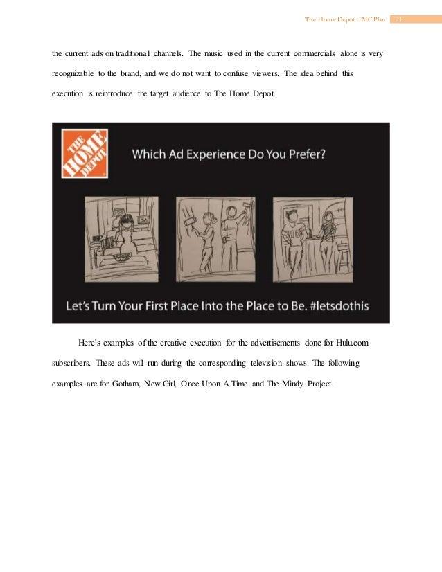 IMC 610: IMC Plan for The Home Depot