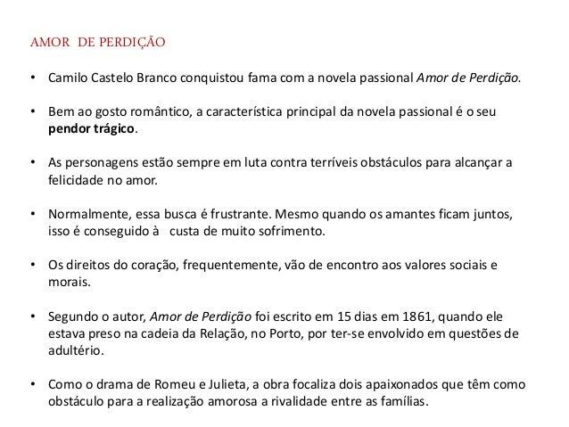 Amor De Perdição Exceto Cap Vi Vii Viii De Camilo Castelo Branco