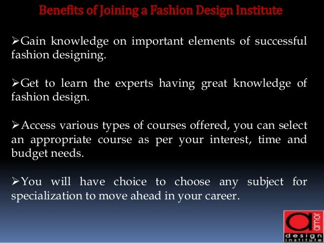 Benefits Of Being A Fashion Designer