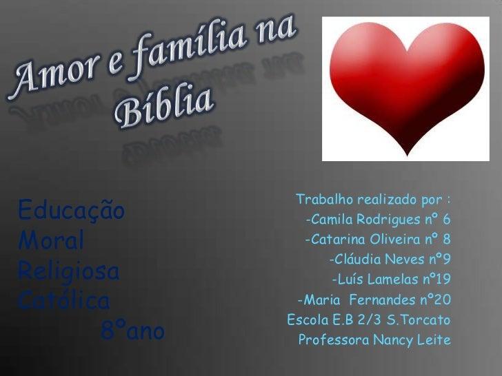 Trabalho realizado por :Educação         -Camila Rodrigues nº 6Moral            -Catarina Oliveira nº 8                   ...