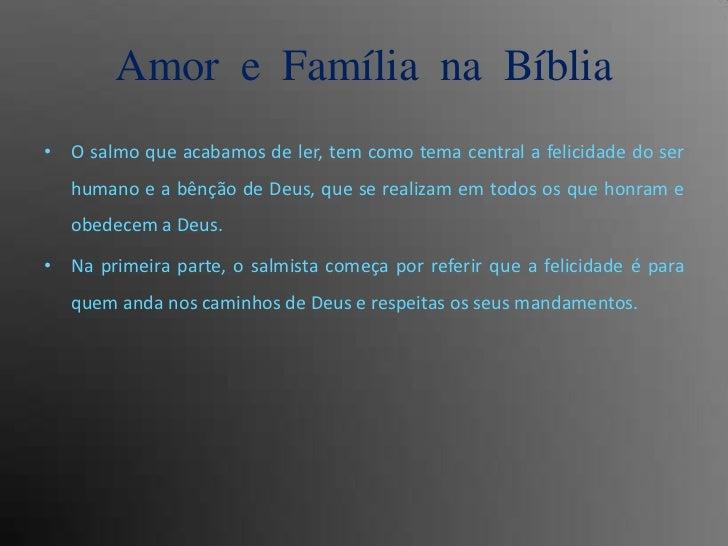 Salmos Para O Amor: Amor E Familia Na Biblia