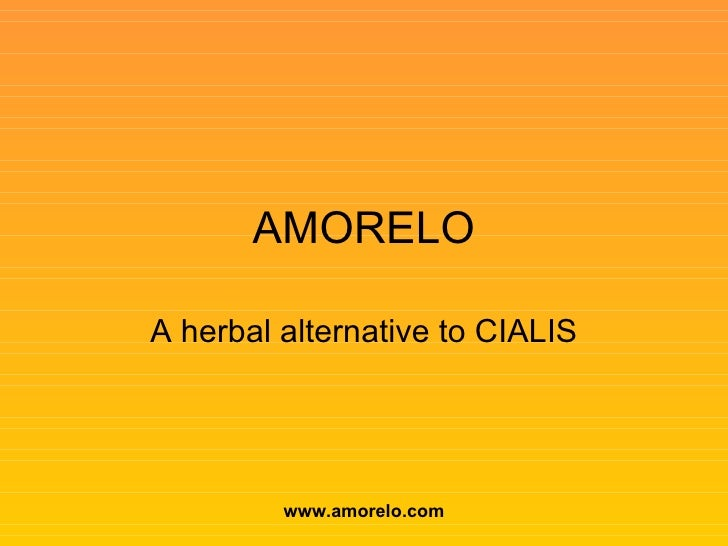 AMORELO A herbal alternative to CIALIS