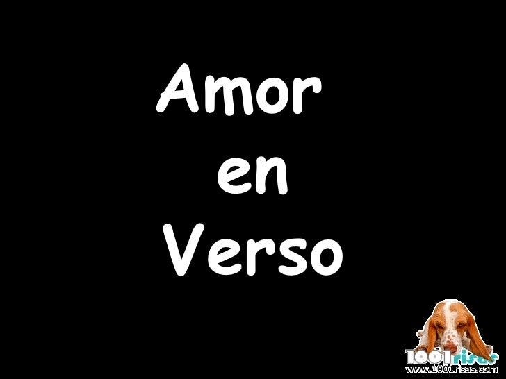 Amor  en Verso
