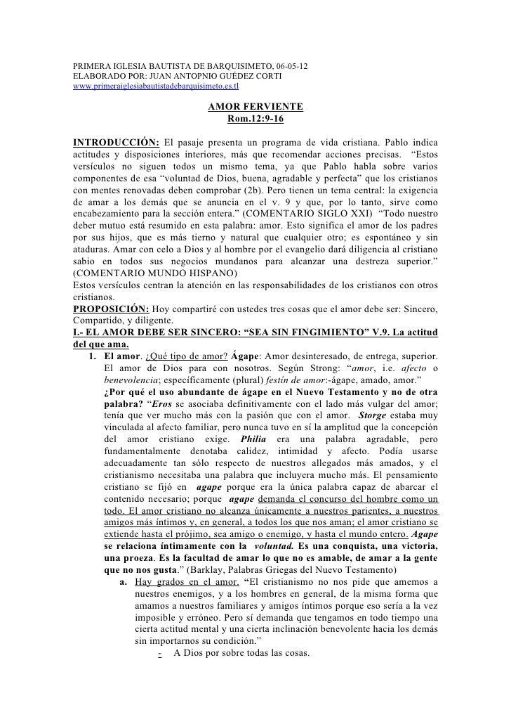 PRIMERA IGLESIA BAUTISTA DE BARQUISIMETO, 06-05-12ELABORADO POR: JUAN ANTOPNIO GUÉDEZ CORTIwww.primeraiglesiabautistadebar...