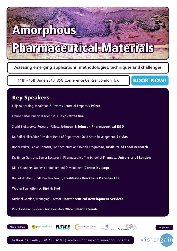 Amorphous  Pharmaceutical Materials    Assessing emerging applications, methodologies, techniques and challenges          ...