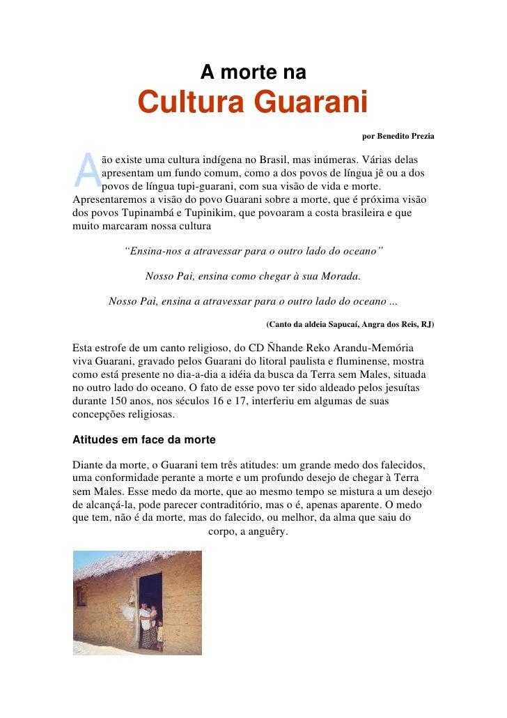 A morte na cultura guarani