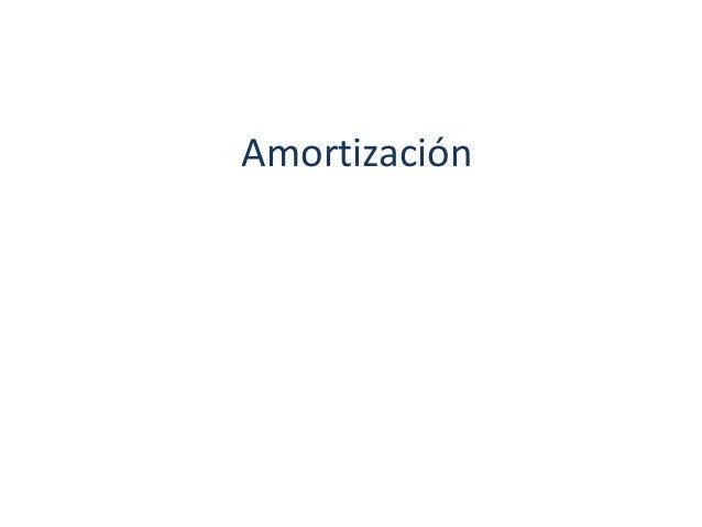 Amortización