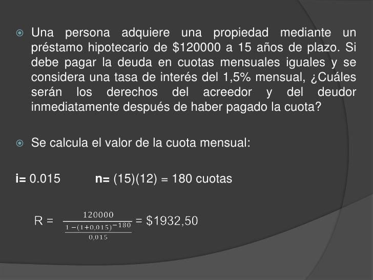 Como calcular la cuota mensual de un prestamo hipotecario - Como solicitar un prestamo hipotecario ...