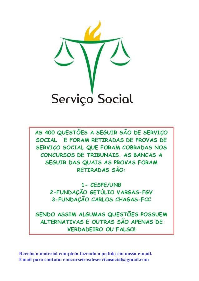 Apostila Dos Concurseiros De Serviço Social Comentada