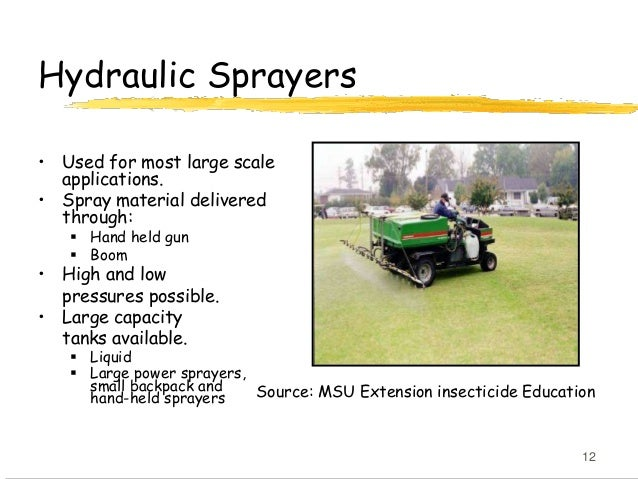 Field Application of Insecticides