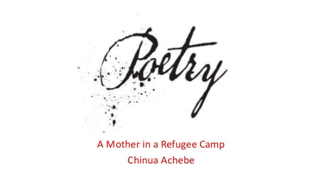 refugee mother and child poem figures of speech