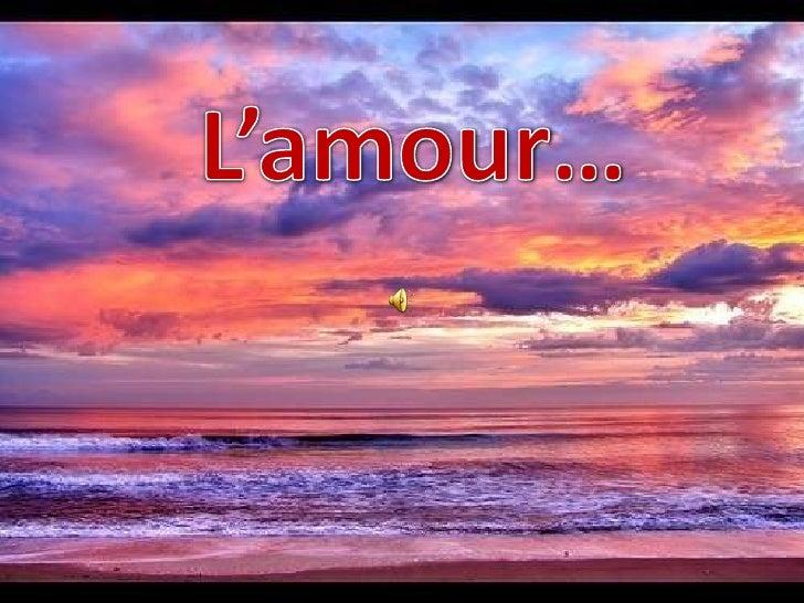 L'amour…<br />