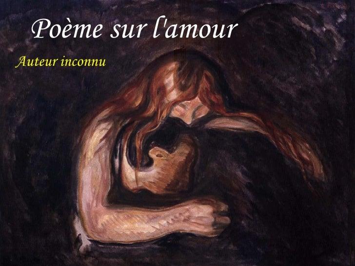 Auteur inconnu Poème sur l'amour