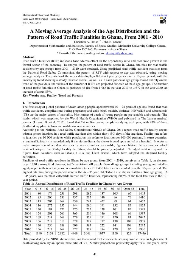 Mathematical Theory and Modeling www.iiste.org ISSN 2224-5804 (Paper) ISSN 2225-0522 (Online) Vol.4, No.3, 2014 41 A Movin...