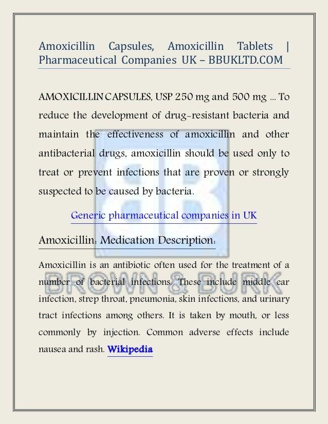 Amoxicillin Capsules, Amoxicillin Tablets   Pharmaceutical Companies …