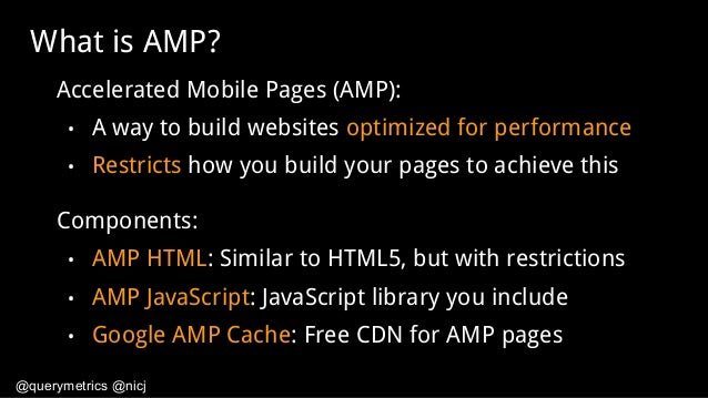 AMP: Does it really make your site faster? Slide 3