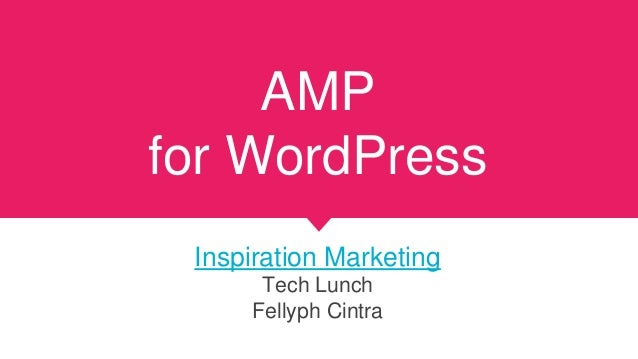 AMP for WordPress Inspiration Marketing Tech Lunch Fellyph Cintra