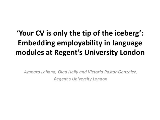 Amparo, olga and victoria rilc your cv is only the tip of