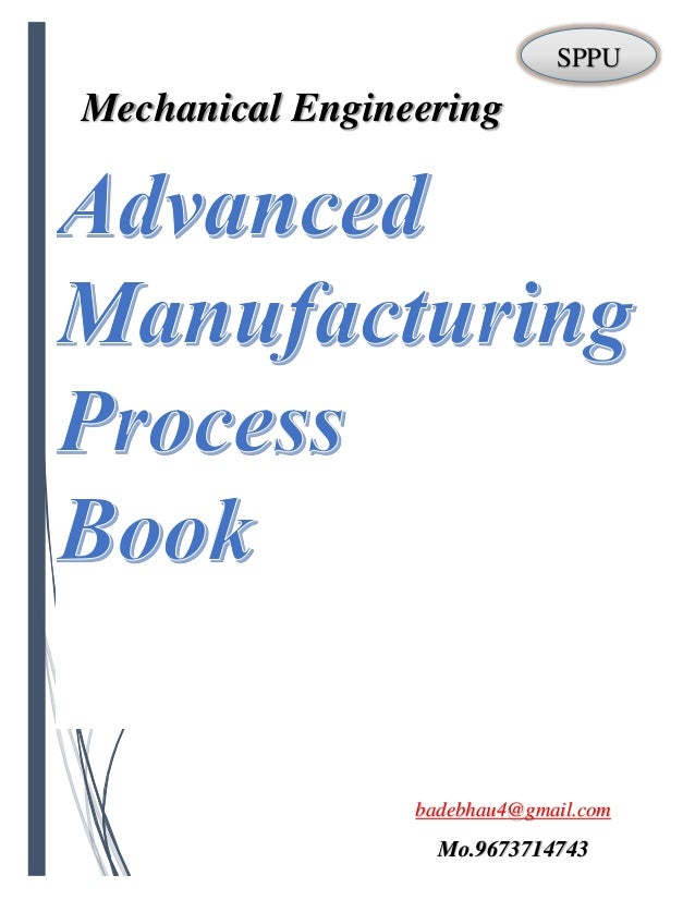 Advanced Manufacturing Processes PDF Full book by badebhau