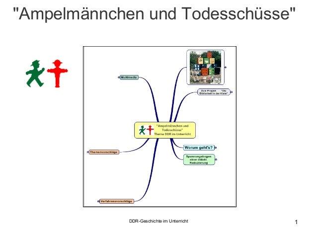 """DDR-Geschichte im Unterricht 1 """"Ampelmännchen und Todesschüsse"""""""