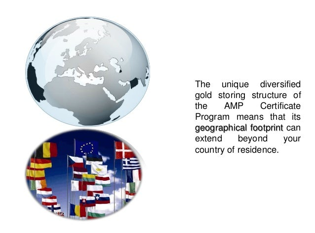 AMP CERTIFICATE PROGRAM                                      Value Added servicesAdditionally clients could take advantage...