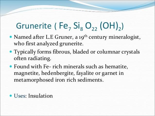 Amphibole Group Of Minerals