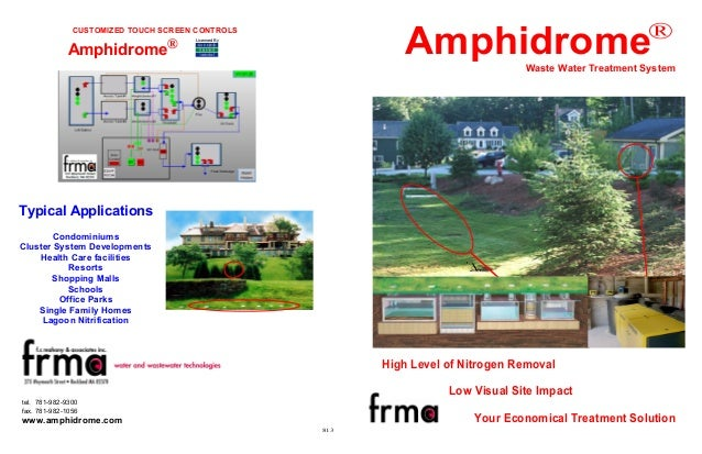 ®  Amphidrome  CUSTOMIZED TOUCH SCREEN CONTROLS  Amphidrome®  Licensed By  Waste Water Treatment System  Typical Applicati...