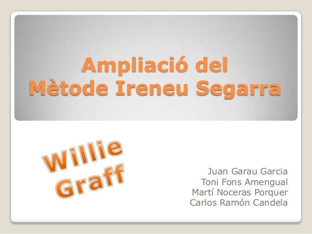 Ampliació del Mètode Ireneu Segarra  Juan Garau Garcia Toni Fons Amengual Martí Noceras Porquer Carlos Ramón Candela