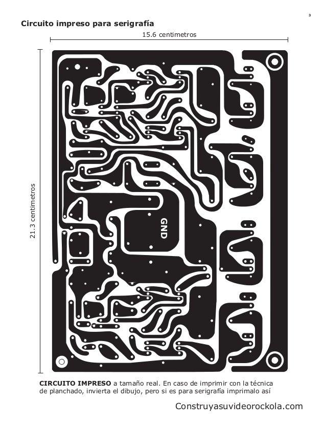 Circuito Impreso De Amplificador De 3000w : Amplificador de w