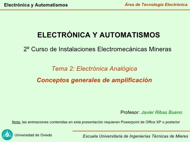 Electrónica y Automatismos                                           Área de Tecnología Electrónica                 ELECTR...
