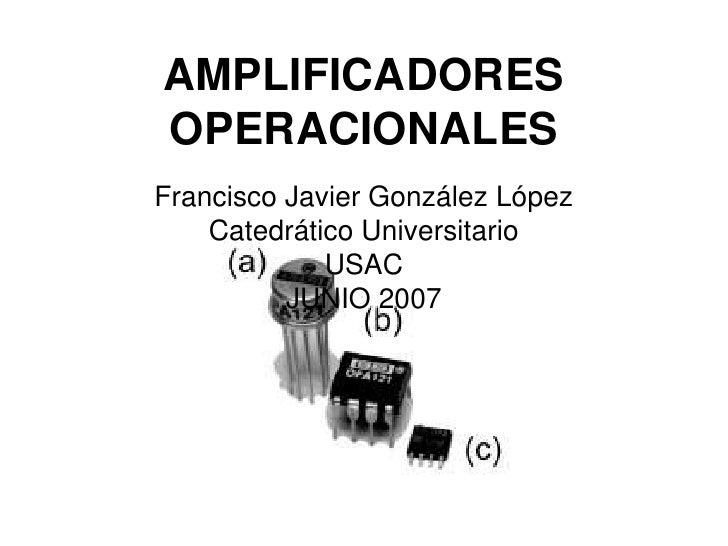 Amplificadoresoperacionales