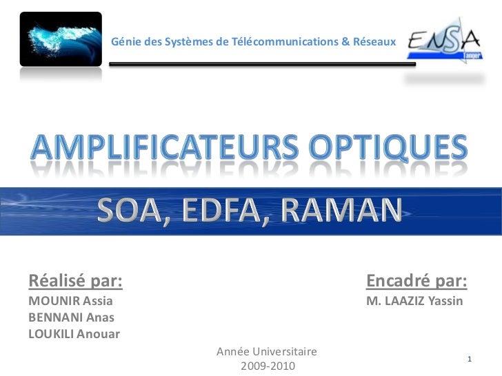 Génie des Systèmes de Télécommunications & RéseauxRéalisé par:                                            Encadré par:MOUN...