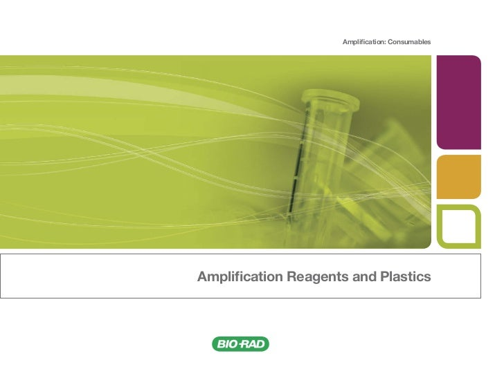Amplification: ConsumablesAmplification Reagents and Plastics