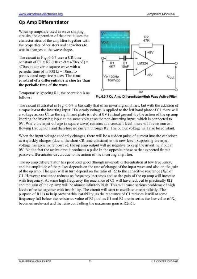 Op-amp & its characteristics